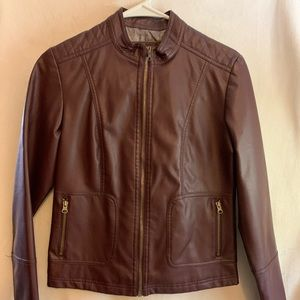 NEW! Faux leather jacket